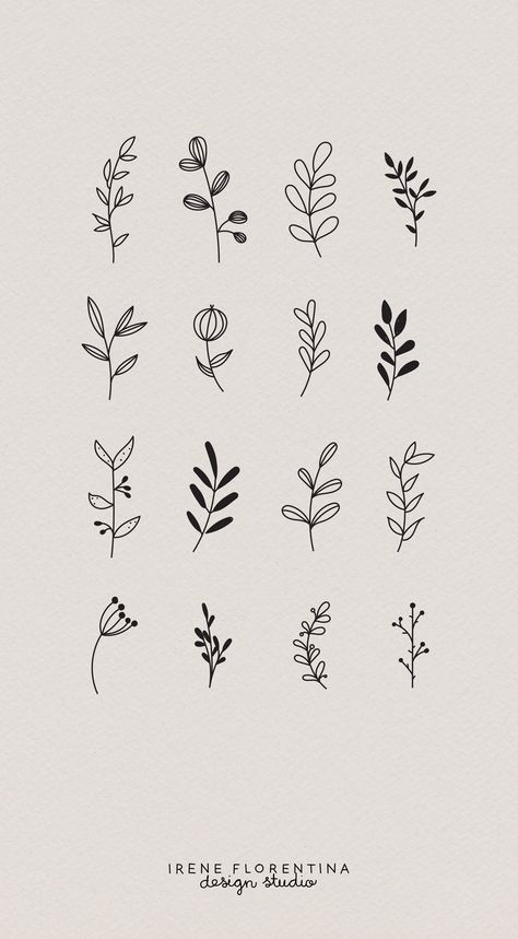 This bundle includes 50 unique botanical floral illustrations which you can use . - Drawings - This bundle includes 50 unique botanical floral illustrations which you can use for logos, invitati - Bullet Journal Writing, Bullet Journal Ideas Pages, Bullet Journal Inspiration, Journal Prompts, Illustration Botanique, Illustration Blume, Illustration Flower, Pattern Illustration, Flower Tattoos