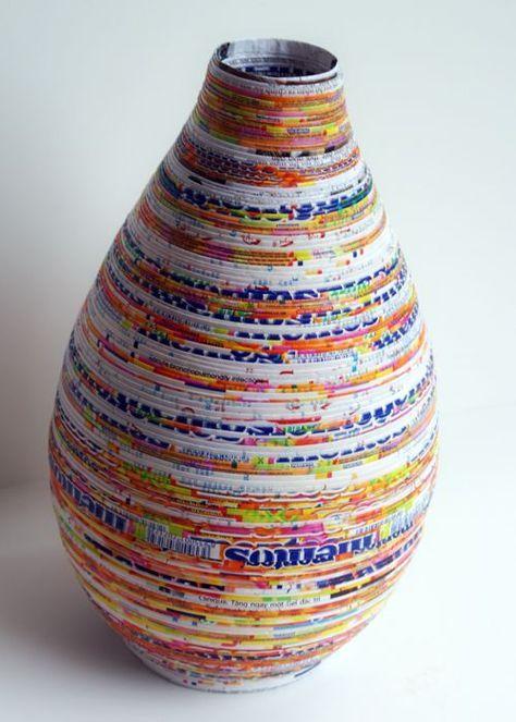 Craft Recycled Paper Newspaper 27 Ideas Artesanatos De Papel