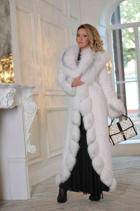Nadire Atas on Luxurious Fur Fashion Mink & fox fur coat