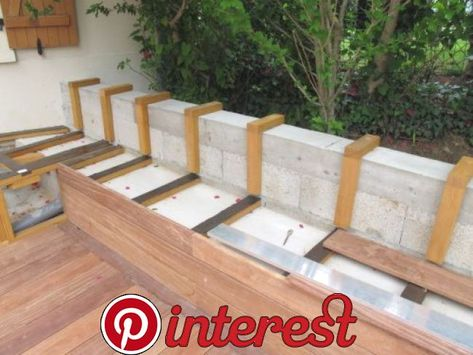 Creer Un Banc Dans Ma Terrasse En Bois Exotique Creer Un Banc Dans Ma Terrasse En Bois Exotiqueterrasse Diy Outdoor Seating Backyard Seating Outdoor Seating