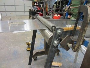 Diy Sheet Metal Rolling Brake Table Kustoms By Kent Sheet Metal Metal Working Tools Metal Shaping