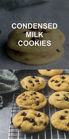 Condensed Milk Chocolate Chip Cookies Incredibly Thick Soft And Chewy Cookies That Milk Chocolate Chip Cookies Cookies Recipes Chocolate Chip Milk Recipes