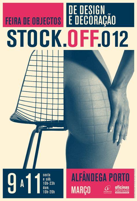 Stock-off poster by António Queirós Design, via Behance - Advertising Design