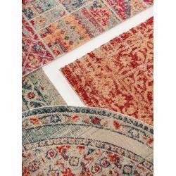 Kurzflorteppiche Benuta Trends Flat Woven Carpet Stella Beige Blue 240 340 Cm Vintage Carpet In Used Look Flat Weave Carpet Vintage Carpet Classic Carpets