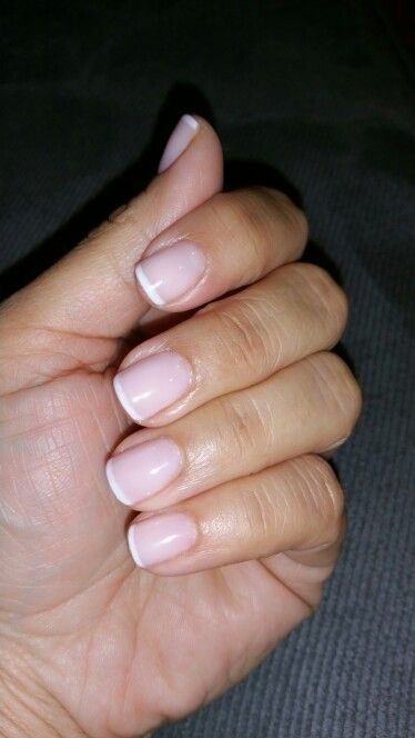 Thin French Manicure By Maria Padilla Cuba French Manicure Nails Gel French Manicure French Nails