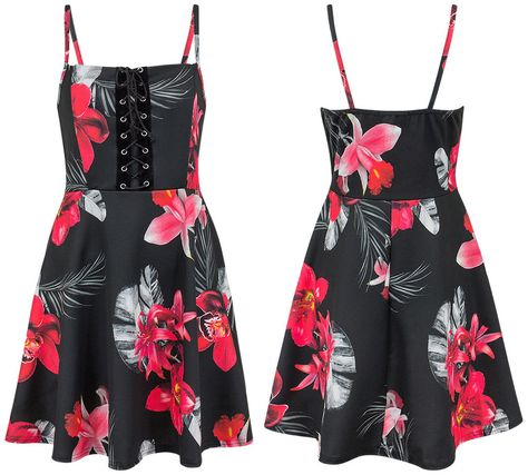 sleeveless #Womens #Floral #Flared #Swing...