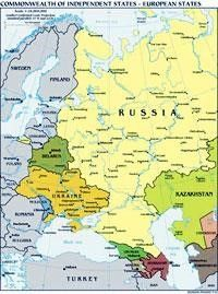 Map of Russia and Europe | Map, Europe, Countries of the world