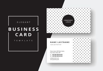 Polka Dot Business Card Layout Business Cards Layout Elegant Business Cards Certificate Design Template