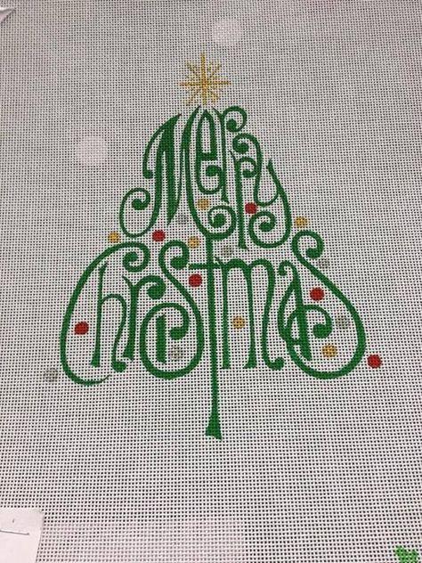 merry Christmas needlepoint canvas