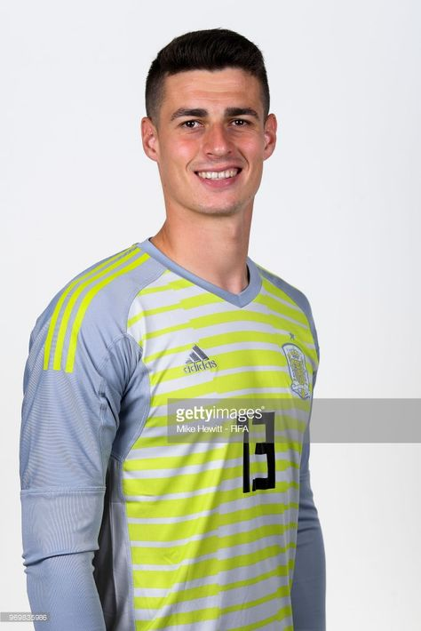 698b0fd0a Kepa Arrizabalaga of Spain poses for a portrait during the official FIFA  World Cup 2018 portrait session at FC Krasnodar Academy on June 8