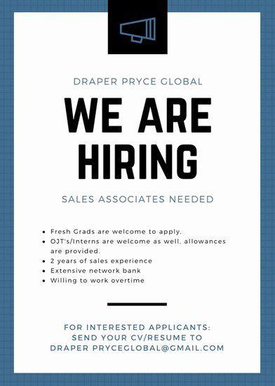 Job Flyer Template Word Unique Job Vacancy Announcement Templates Canva Flyer Template Job Posting Flyer