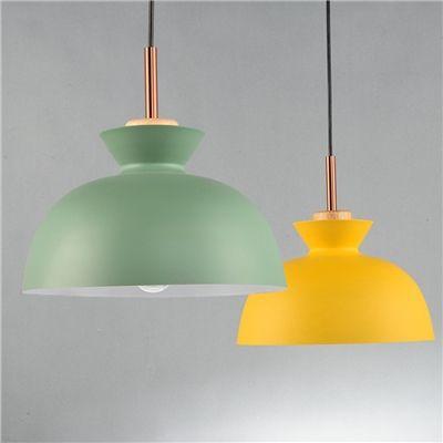 ペンダントライト 天井照明 北欧風照明 照明器具 玄関照明 1灯 緑色