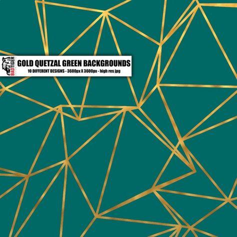 Quetzal Green Gold Pattern Damask Texture Digital Paper Gold   Etsy