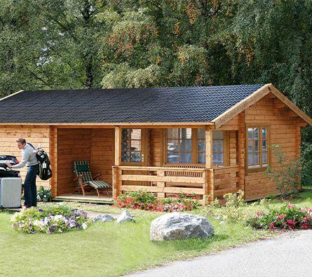 Ferienhaus Rhon 70 Aus Holz Ferienhaus Holzhaus Bausatz Gartenhaus Mit Terrasse