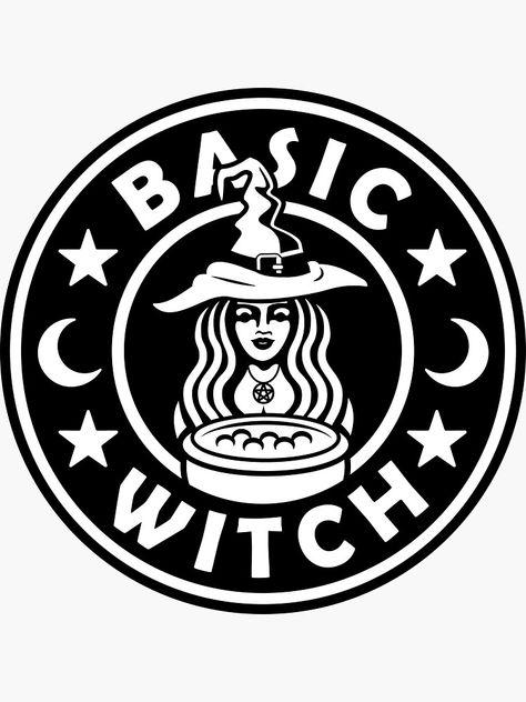 Basic Witch Framed Art Print by Designs - Vector Black - Fete Halloween, Halloween Crafts, Halloween Signs, Vinyl Crafts, Vinyl Projects, Cricut Vinyl, Vinyl Decals, Cricut Craft Room, Starbucks Logo