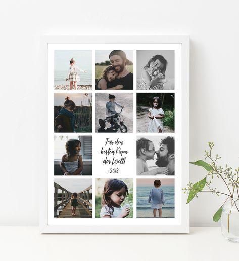 Dekoration - Personalisierbares Familienbild   Bester Papa - ein Designerstück von DaisyDesignStudio bei DaWanda