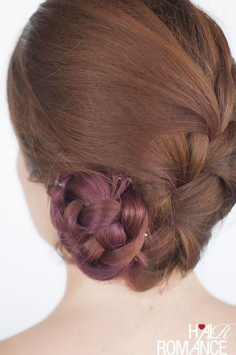 French braid bun hairstyle tutorial