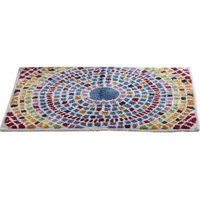 Brayden Studio Cutrer Mosaic Size Bath Bathroom Mats Decor Bath Rugs Diy Brayden Cotton Cutrer Geometric Mosaic Non In 2020 Bath Rugs Cotton Bath Rug Bath Rug