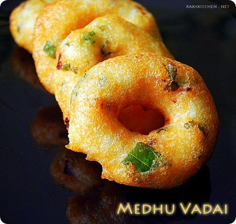 MEDHU VADAI / ULUNDU VADAI RECIPE (WITH VIDEO) | RAK'S KITCHEN- this is a delicate fried ring of spit lentils that is favored to go in Rasam soup. I have that recipe too.
