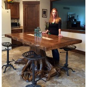 This Cedar Lake Log Dining Table With Apron Is Hand Crafted From