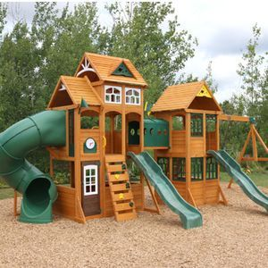 Paramount Wooden Swing Set Playset Outdoor Design Wooden