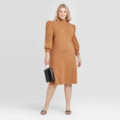 turtleneck long sleeved sweater dress from Simpleclothesv