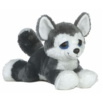 What dreamy eyes you have! Blue the Plush Husky Dreamy Eyes Stuffed Dog will surely see you coming. Our ten inch stuffed husky has big, dreamy eyes and a winning smile. With a bean filled floppy body and a 'devil may care' attitude,