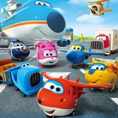 Mini Super Wings Transforming Plane Toy Korea TV Animation Character Set 8pcs UK