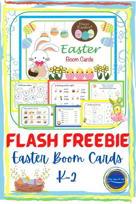 Flash Freebie – Easter Boom Cards