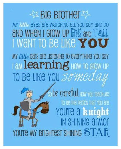 Your Place To Buy And Sell All Things Handmade Being A Big Brother Quotes Beingabigbrotherquotes Big Brother Poem Sayin In 2020 Brother Poems Big Brother Sayings