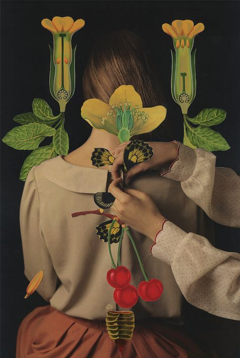 """For their series Zła uczennica—""""The Bad Schoolgirl"""" in Polish—photographer Magdalena Franczuk and collage artist Ashkan Honarvar teamed up to tell a tender coming-of"""