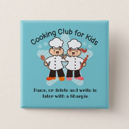 Kawaii Chef Kids Cooking Class Name Tags Button Zazzle Com Cooking Classes For Kids Cooking With Kids Cooking Classes