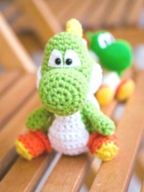 Ravelry: Mini Yoshi Gamer Friend pattern by Mary Smith | 386x290