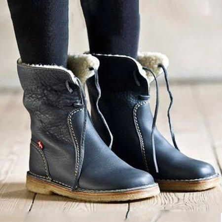 Comfy Soft Leather Boots Soft Leather Boots Winter Boots Women Vintage Boots