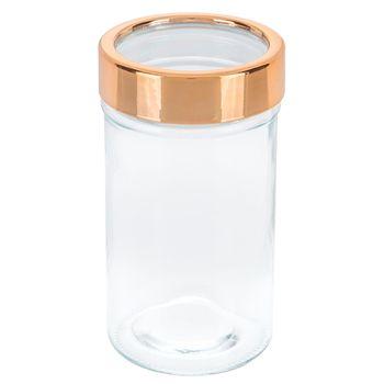 Copper Window Lid Glass Jar 16 Ounce Glass Jars Glass Mason Jars Jar