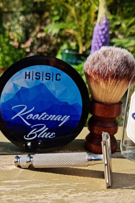 Could this be the ultimate spring shave? Featuring HSSC (Highland Springs Soap Company) Kootenay Blue Soap and Splash, using a Paragon Brush and a Razorock Game Changer 68 P with a UFO handle. Bright, fresh and invigorating.