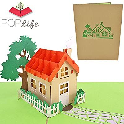 Amazon Com Poplife Family House 3d Pop Up Card For All Occasions House Warming Gift Realtor Gift New Hou Realtor Gifts House Warming Gifts New Home Cards