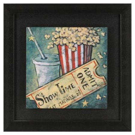 Popcorn Wall Decorations   Showtime Wall Art - Popcorn & A Movie on ...