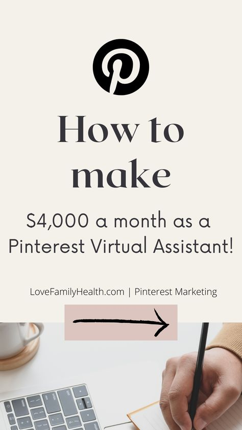 How to make $4K a month as a Pinterest Virtual Assistant. How to work from home. Pinterest Marketing