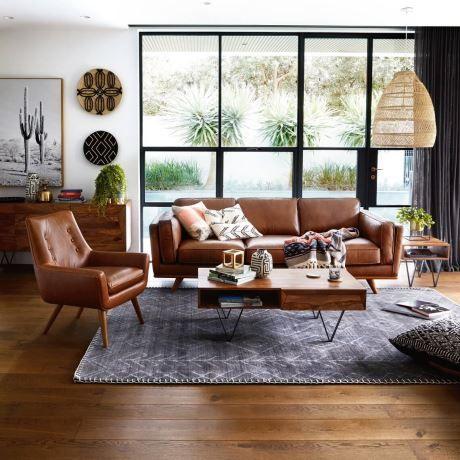 Dahlia 3 Seat Leather Sofa 2 Furniture Freedom Furniture Leather Sofa