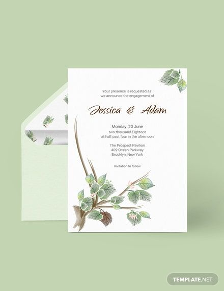 Fall Wedding Engagement Announcement Card Template Word Doc Psd Indesign Illustrator Publisher Engagement Announcement Cards Engagement Announcement Wedding Engagement Announcements