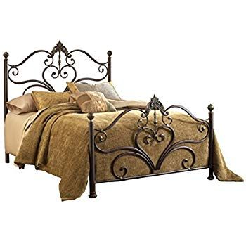 Sydney Queen Bed Antique Brushed Gold
