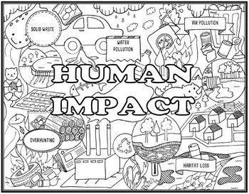 Human Impact On The Environment Seek And Find Science Doodle Page