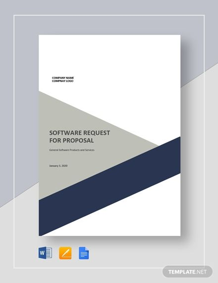 Software Request For Proposal Template Free Pdf Google Docs Word Apple Pages Template Net Request For Proposal Proposal Templates Cover Page Template Word Business plan cover page template