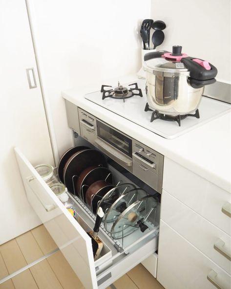 キッチン収納のお悩み解決 シンク下 コンロ下 の深い引き出し収納術 システムキッチン 収納 引き出し キッチン 収納 シンク下 100均 シンク下