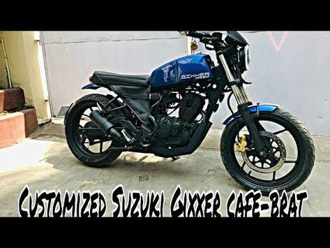 Suzuki Gixxer Modified Gixxer Cafe Brat Cafe Racer Brat