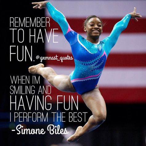 When I see that and she says preform, I'm not just thinking about gymnastics ...
