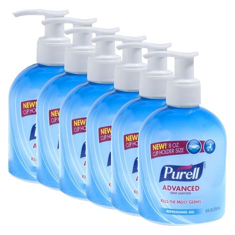 Purell Advanced Hand Sanitizer Cup Holder Pump Refereshing Gel