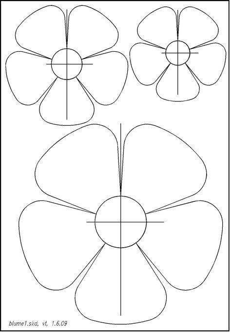 einfache blumen schablonen 01  basteln  malvorlagen