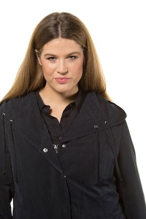 Ulla Popken Womens Jacke Mit Kapuze Und Tunnelzug Jacket
